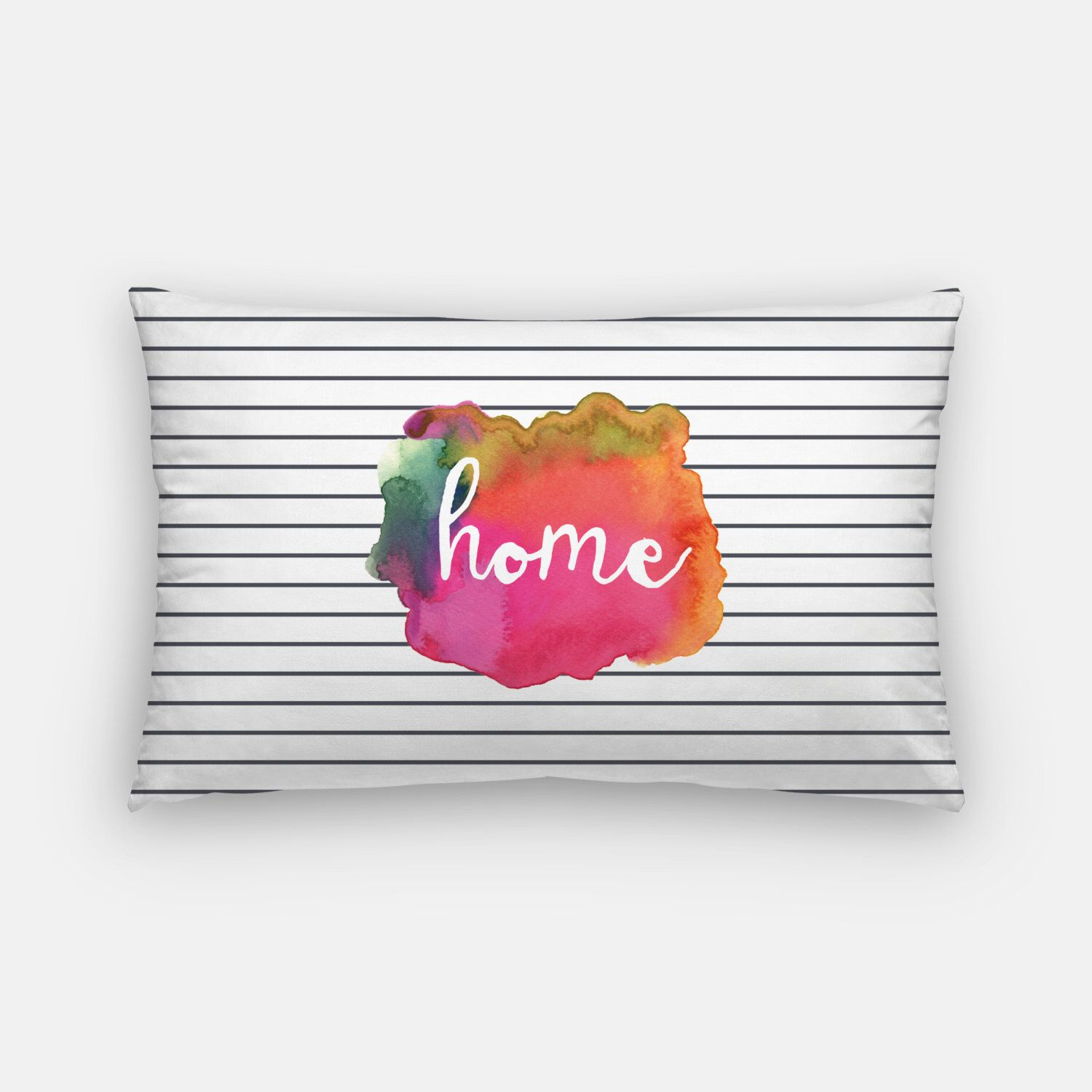 Excited to share the latest addition to my #etsy shop: watercolor art | watercolor pillows | pink and orange pillow | throw pillows | home pillow | lumbar pillow | trendy pillows | home decor