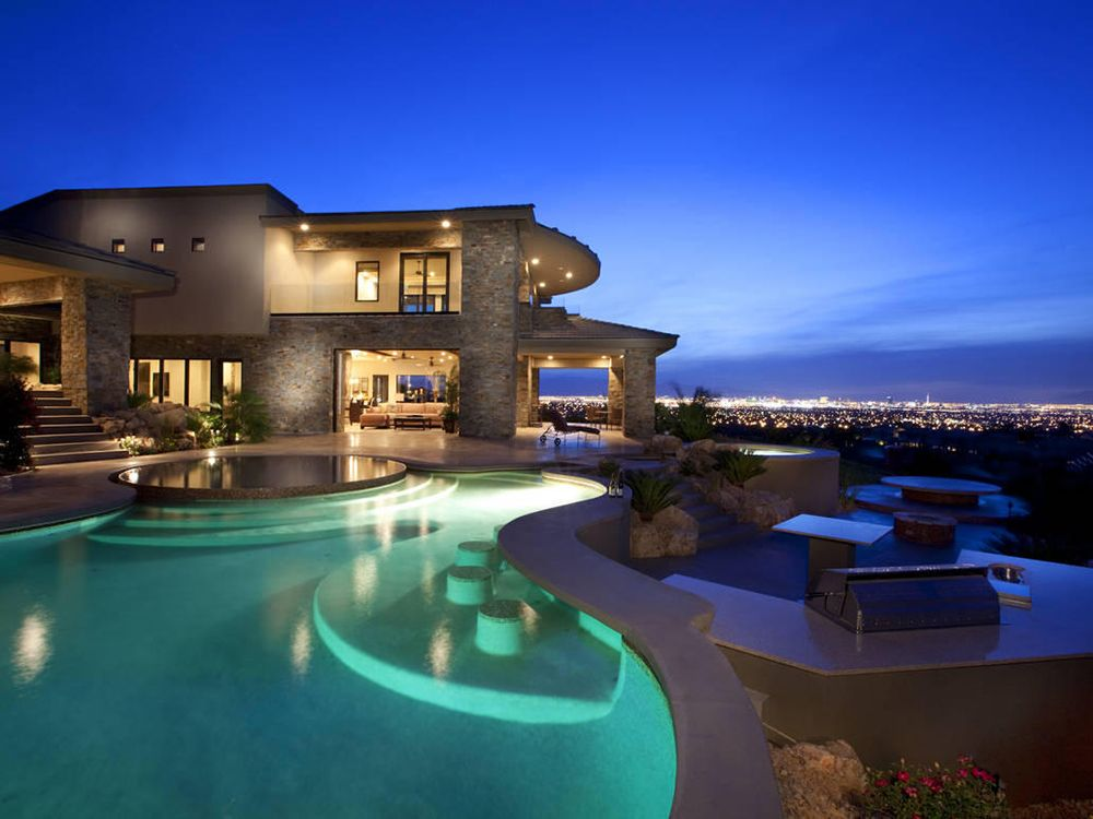 Amazing Swimming Pool Designs Connected With Terrace On A Luxury