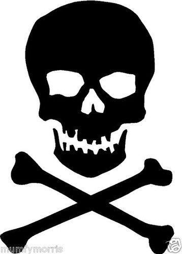 skull and crossbones iron on t shirt transfer