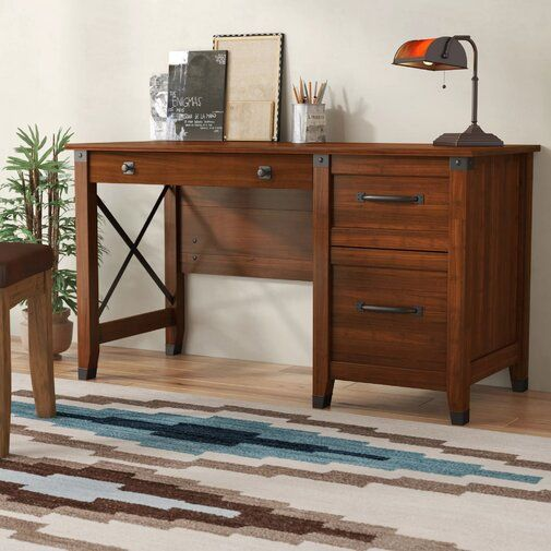 Furniture, Wood Writing Desk, Home Office