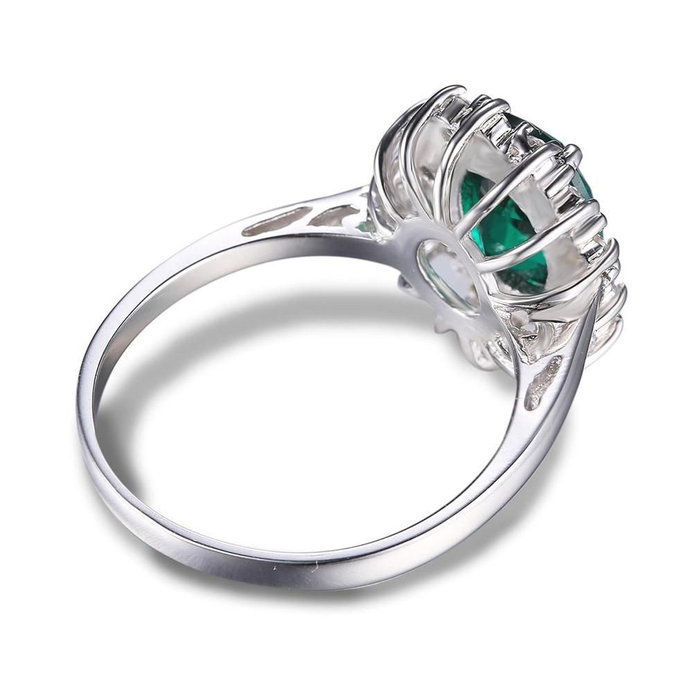 Hot girls emerald ring cocktail sterling silver free shipping