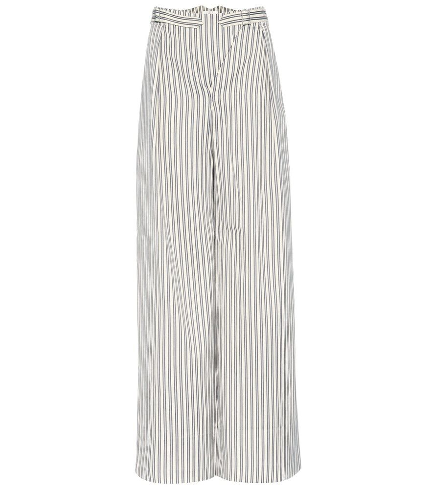 Zimmermann - Bowerbird Buckle cotton-blend trousers - Zimmermann's Bowerbird Buckle trousers come from the label's Spring '17 collection and have a summer-ready attitude. Crafted from cotton-blend fabric, this style has buckle details at the waist and  is decorated with leg-lengthening stripes. Tuck in your top to show off the hilly curves on the back of the waist. seen @ www.mytheresa.com