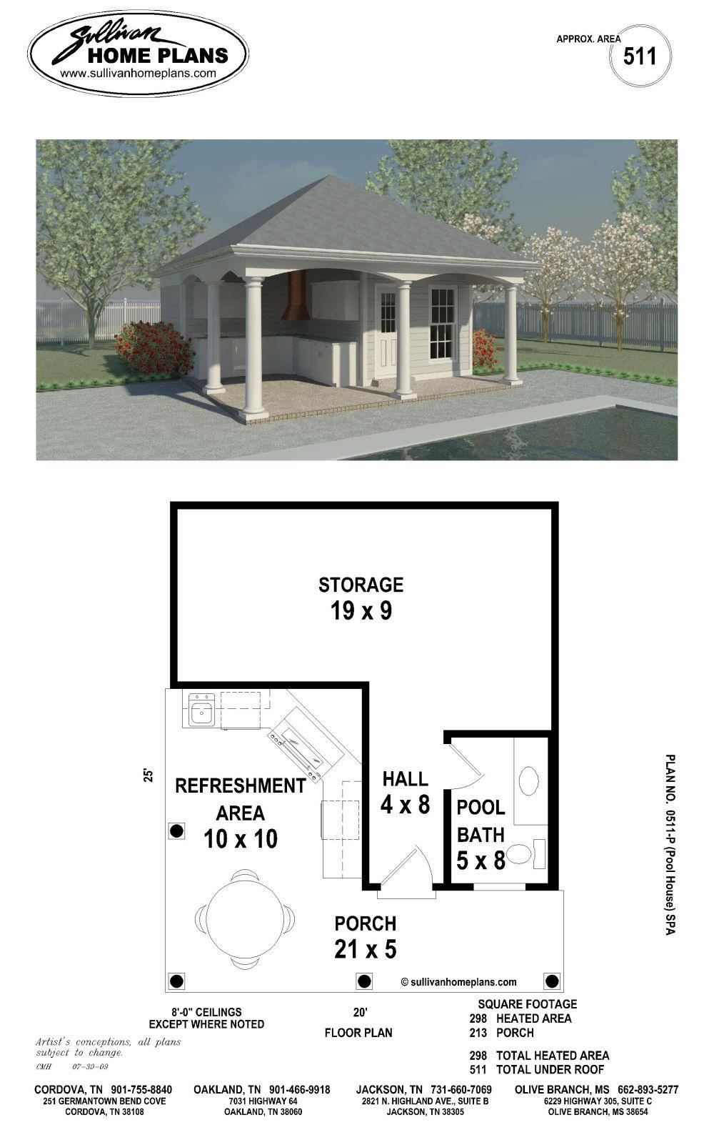 Simple Pool House Floor Plans