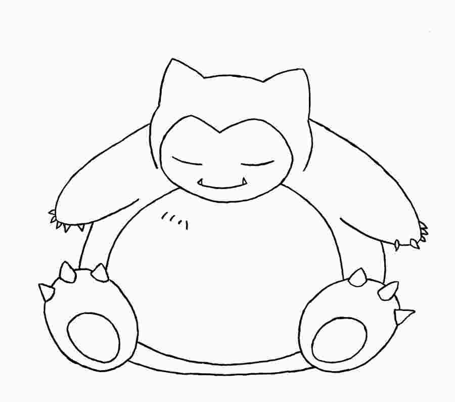 Pokemon Coloring Pages Snorlax Pokemon Coloring Pages Pokemon