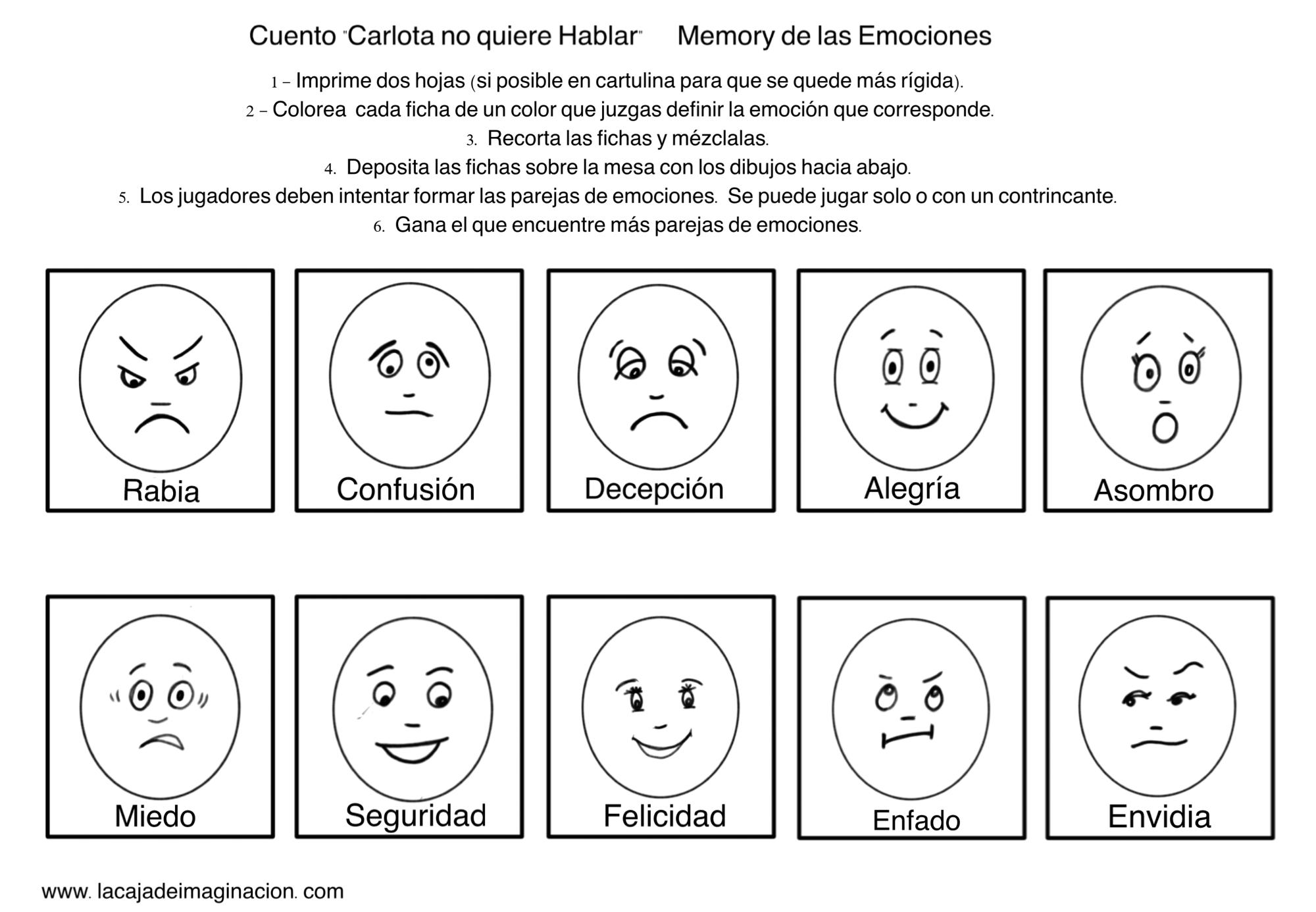 Resultado De Imagen De Emociones Para Colorear E Imprimir Variado