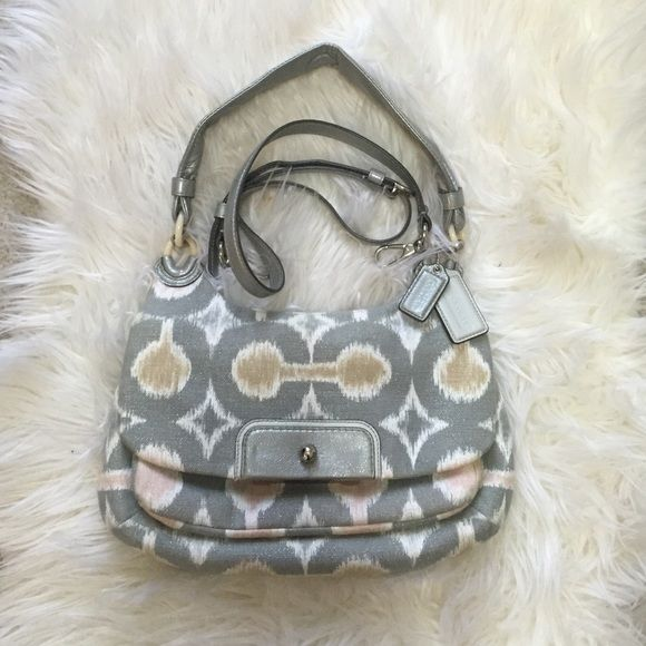 Coach shoulder bag w/convertible crossbody Authentic! Comes with adjustable crossbody strap & can be converted to a shoulder bag. Used a handful of times, no marks inside or outside. Almost like new!  Asking only $65; needs to go! Coach Bags Shoulder Bags