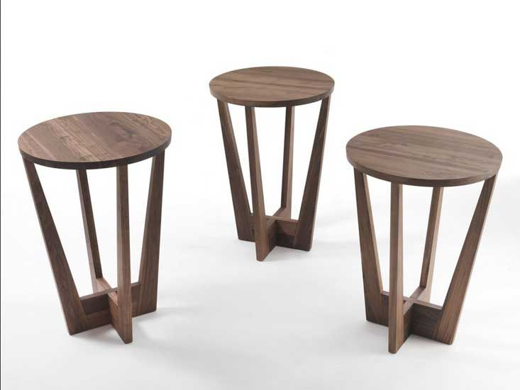 Beistelltische Holz Gnstig Hlzerne Abgeschrgte Beistelltisch Fr Wohnzimmer Mbel Kleine Runde Walnuss Mit Neueste