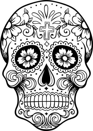 c0ce6005b Sugar Skull SVG file | Products | Skull coloring pages, Skull, Adult ...