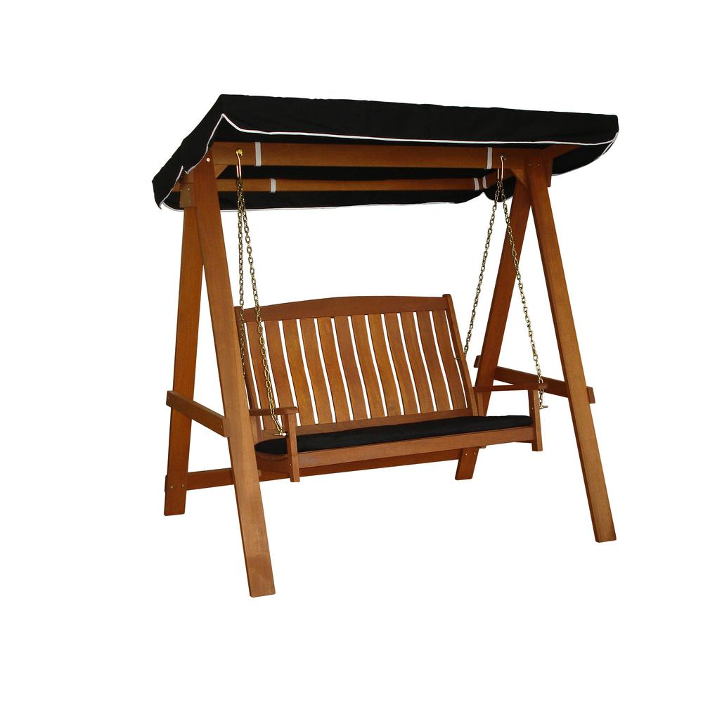 Avoca 2 Seat Swing 88351 The Home Depot Porch Swing With Stand Patio Swing Porch Swing