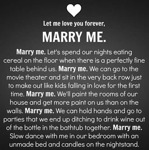 I want to marry you quotes