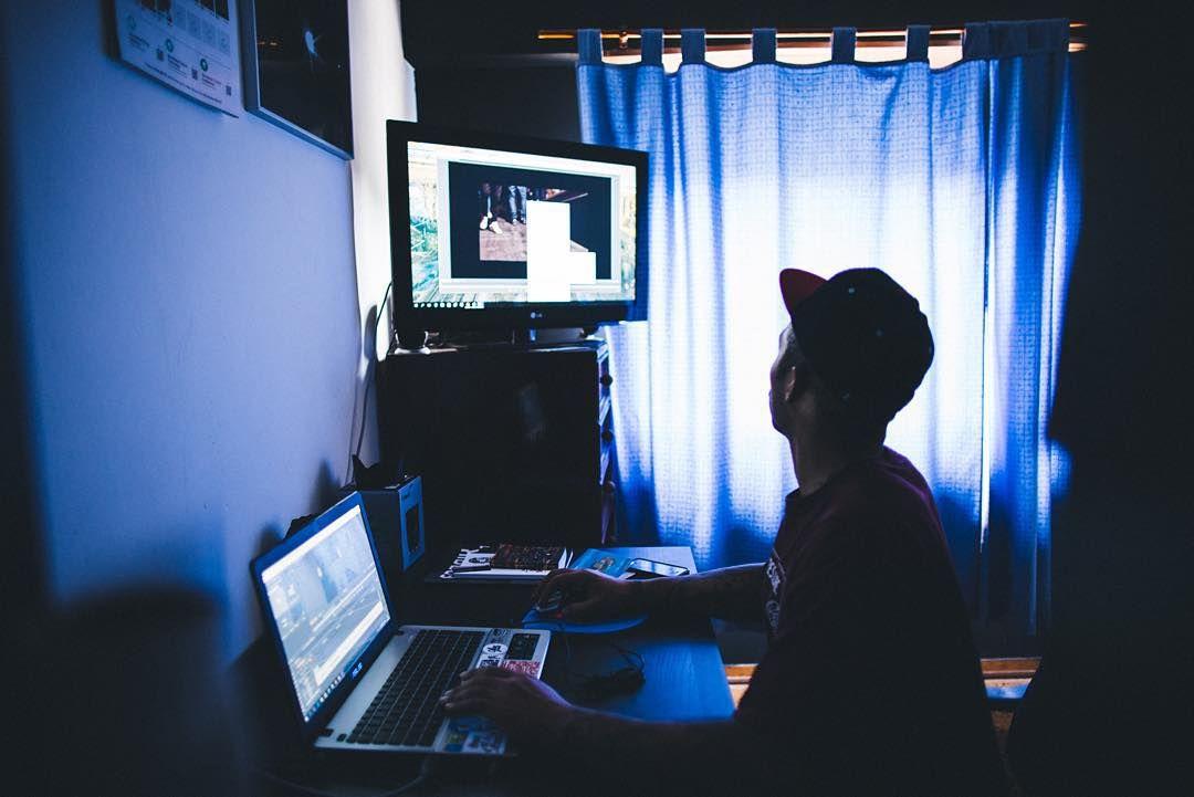 """my man Chris working in a @midnightmadnesscrew video."""