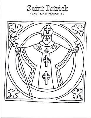A Little Saint Patrick Coloring Page St Patricks Day Crafts For