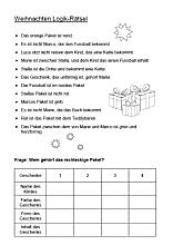 Logikrätsel Weihnachten Texte Auf Deutsch Rätsel Logik Rätsel