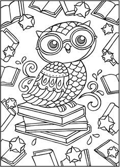 Sparks Owl Coloring BookDover Publications Samples