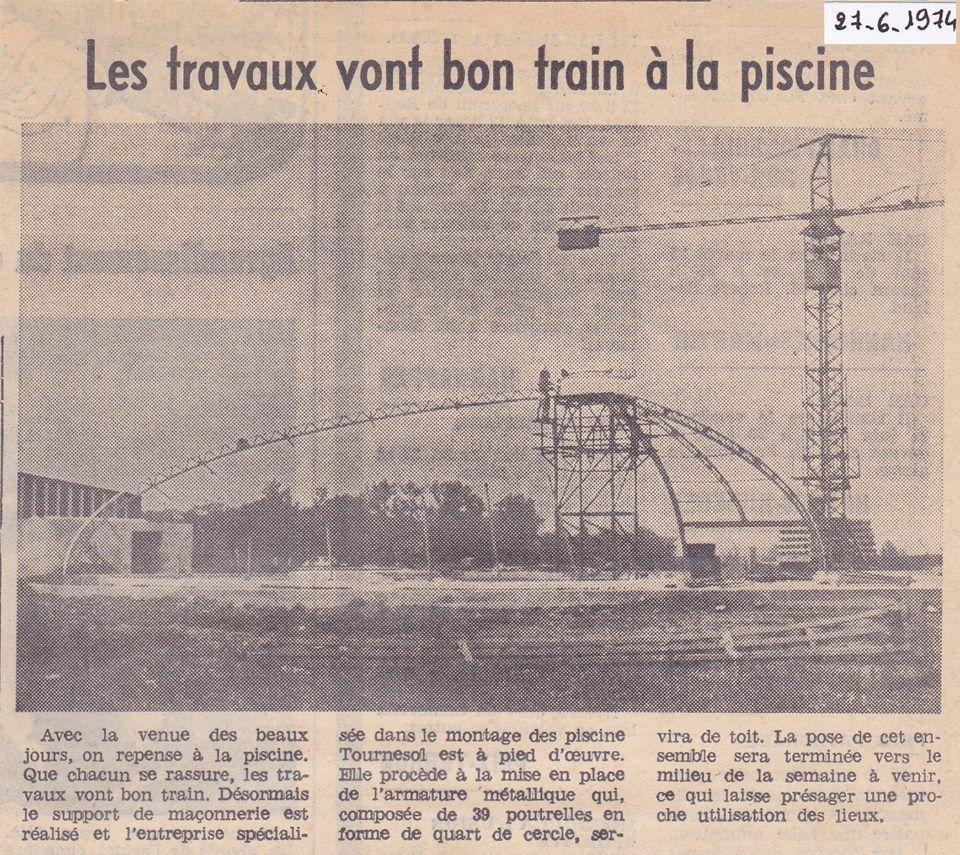 travaux de la piscine  1974