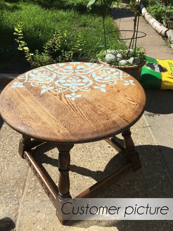 Sur vente mandala style stencil pochoir meubles par - Pochoir pour meuble en bois ...