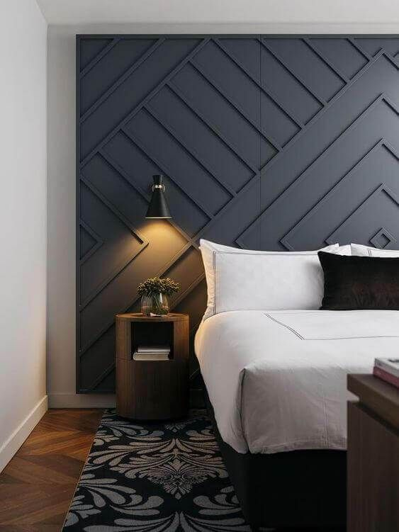 Awesome Grey Accent Wall Ideas Master Bedroom Masterbedroom Masterbedroomblue Masterbedroomelegant Ma Home Bedroom Home Decor Bedroom Bedroom Interior