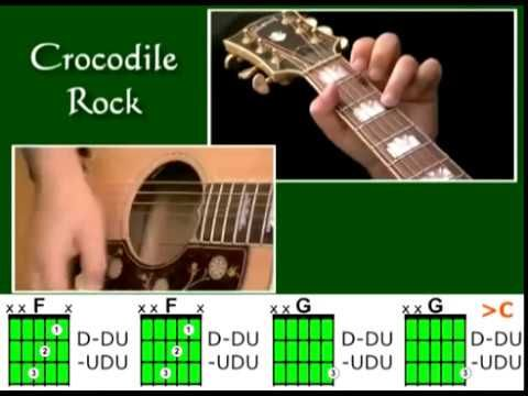 How to play Crocodile Rock by Elton John - Guitar Lesson Tutorial ...