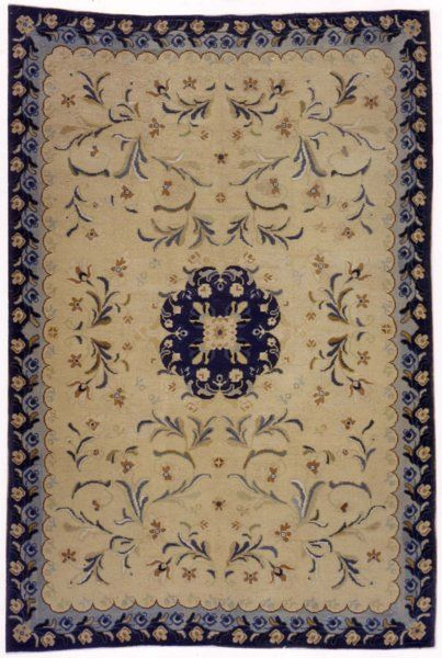 "Late 18th Century Spanish Needlepoint rug. Size 6' 7"" x 9' 8"" at Beauvais Carpets."