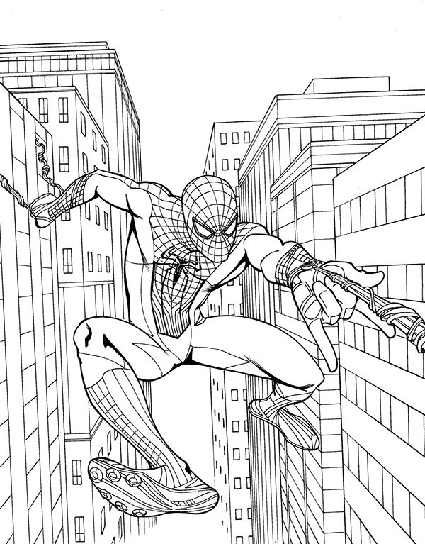Coloriage Spiderman Coloring Batman Coloring Pages Superhero