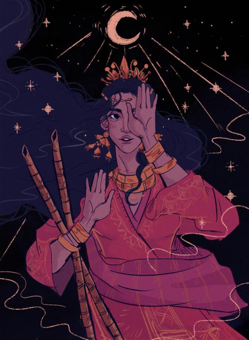 In ancient Philippine mythology, Mayari is the one eyed moon