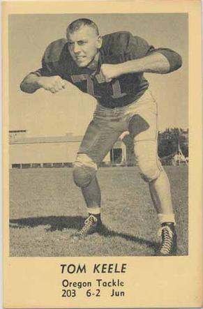 1958 Oregon Junior Tackle Tom Keele Www Sportingoregon Com Baseball Cards Keele Oregon