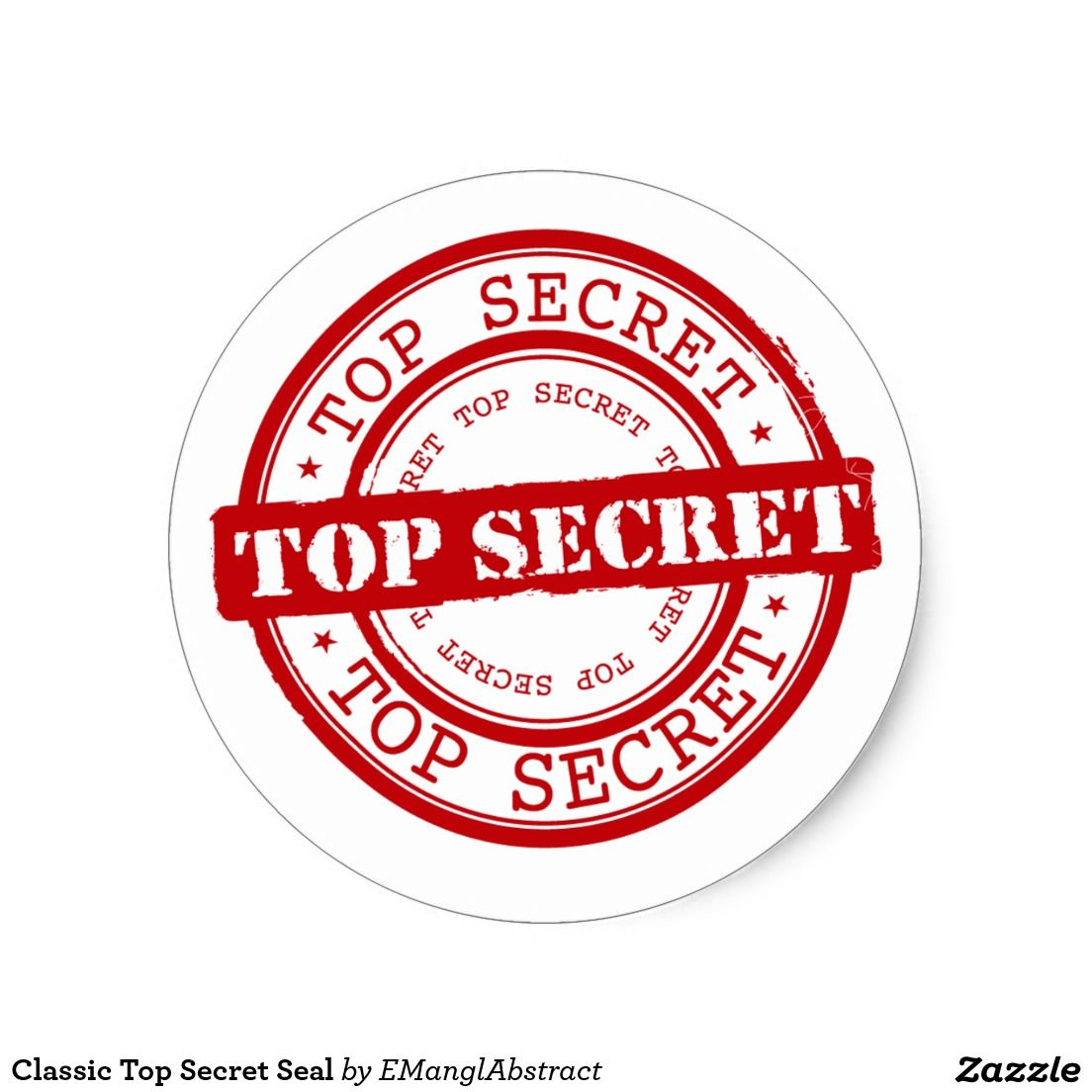 Classic Top Secret Seal Zazzle Com Secret Tattoo The Secret Classic