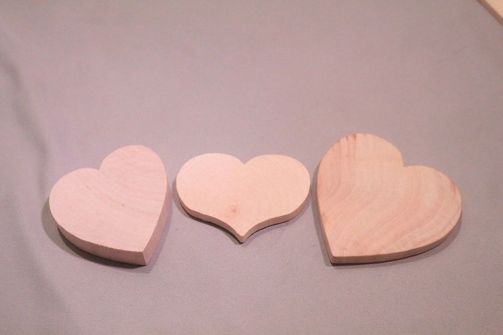3 Pc Lot New Raw Unfinished Wood Craft Hearts Made in USA!      http://autopartspuller.com/ Great Sale 70% off entire store!! Copper, Glassware, Wood Crafts, Scrap Booking   Also Find us on:  http://hometownvintage.com @HomeTownVintage @autopartspuller @preppershowto http://facebook.com/hometownvtg http://facebook.com/AutoPartsPuller