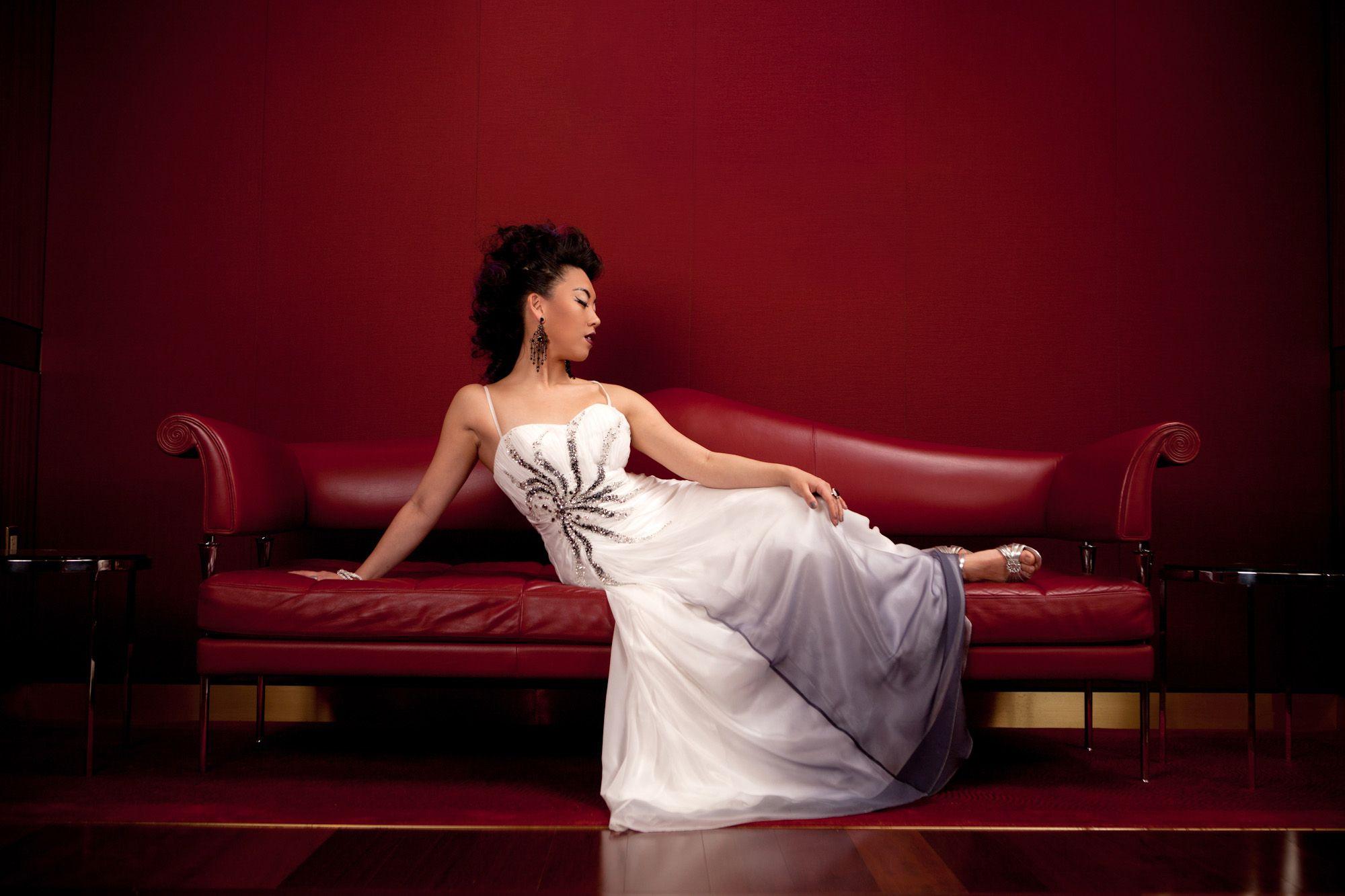 ignited Photography - Stylized Fashion - Stylist: Kait Wright - Model: Emily - Strobe Lighting - Orchestra Hall in Detroit