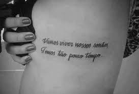 Tatuagens Femininas Na Costela Escrita