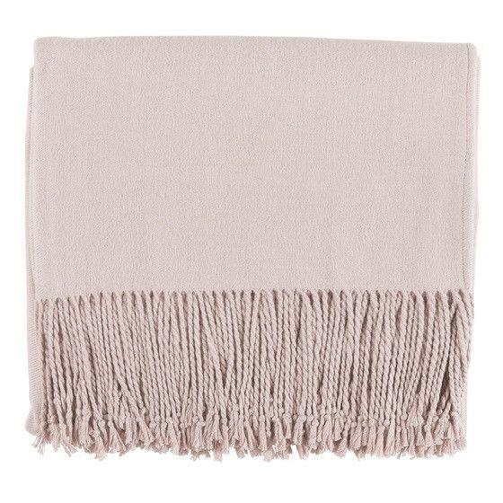 Blush Pink Silk Blanket Throws For Sofas   Trending Home Decor