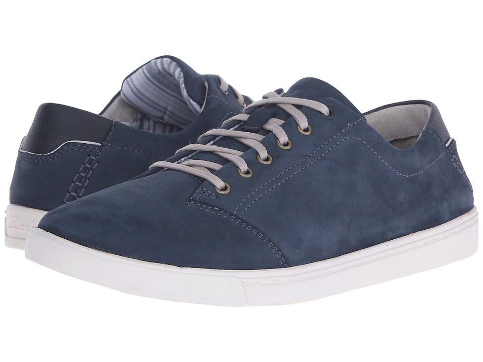 CLARKS CLARKS - NEWOOD STREET (DENIM BLUE) MEN'S LACE UP CASUAL SHOES. #