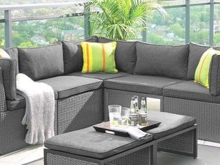 patio chair with ottoman canada back cushion for office umbra loft collection middle canadian tire