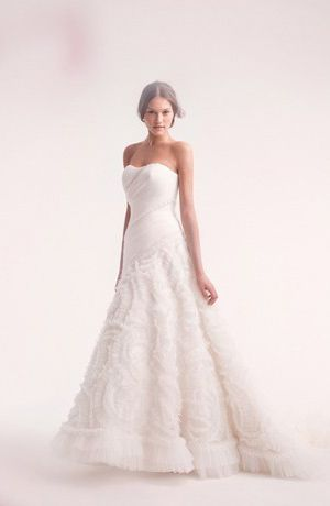 Alita Graham Strapless A Line Gown In Tulle Bridal Wedding Dresses A Line Wedding Dress Klienfeld Wedding Dresses
