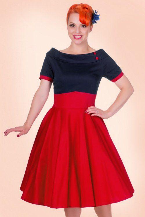 e77e460686843 Fourth of July! Independence 1950s Darlene Swing Dress in Black and Hot Pink  £43.55 AT vintagedancer.com Independence