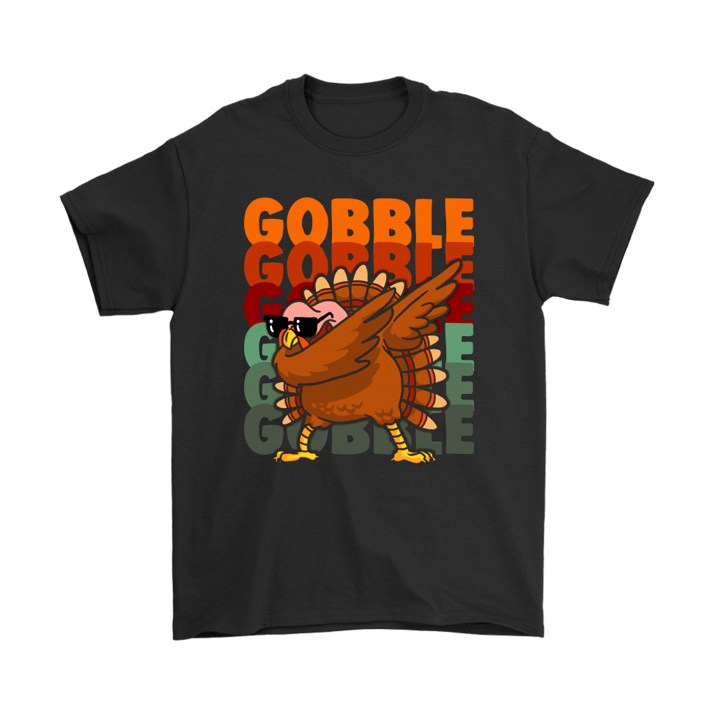 """Gobble Gobble Gobble Dabbing Turkey Thanksgiving Shirts Gobble Gobble Gobble Dabbing Turkey Thanksgiving Shirts - Geek Tarven   Get this""""Gobble Gobble Gobble Dabbing Turkey Thanksgiving Shirts""""Unique design for any special occasions like Christmas, Valentine's day, St. Patrick's day, Mother's day, Father's Day, Birthday. It has all sizes for you, and a wide range of color for you to choose from. This shirt will be the perfect gift for somebody special, family. Or an excellent shirt for you to"""