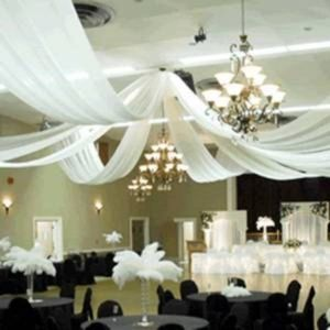Decorating Ceiling With Tulle Wedding Reception Decorations From Edmonton Bizcaf Ca