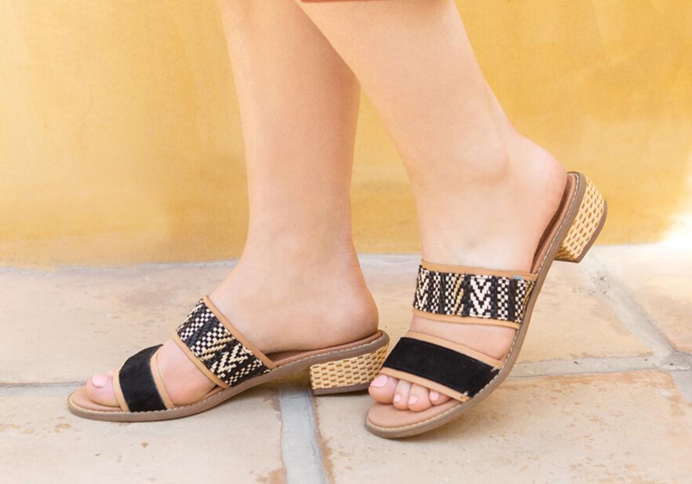 Black Suede Women's Mariposa Sandals