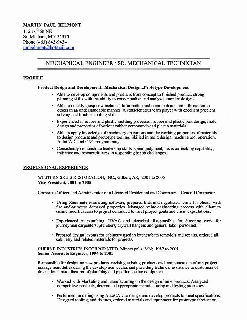 25 mechanical engineering resume template in 2020