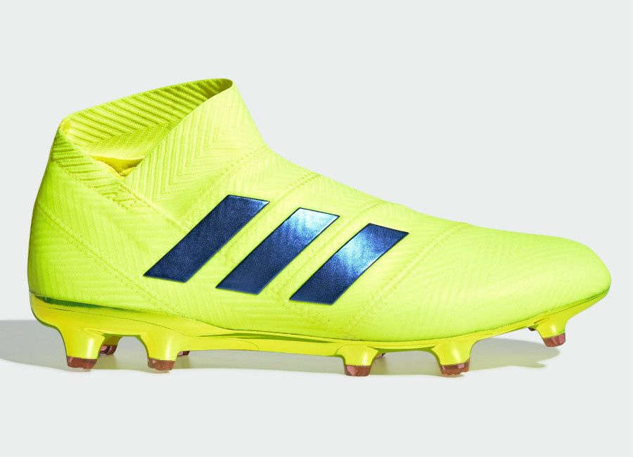 Adidas Nemeziz 18+ FG Exhibit - Solar Yellow   Football Blue   Active Red   adidasfootball  footballboots 4ef8e3ece70c2