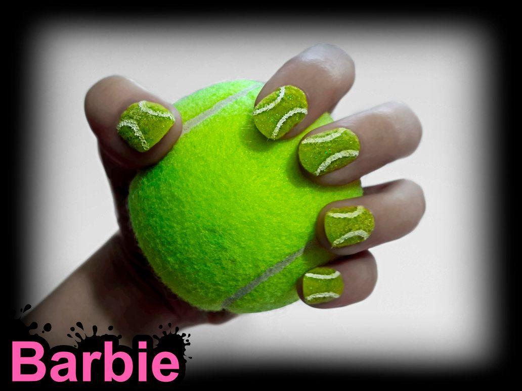 Furry nail design greenish tennis ball cute design especially for furry nail design greenish tennis ball cute design especially for tennis lovers barbienailart prinsesfo Image collections