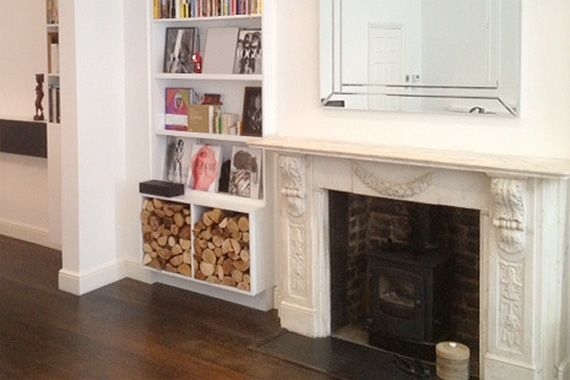 How to Heat Up the Value of Your Fireplace: Indoor Wood Storage ...