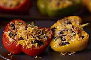 Southwest Stuffed Bell Peppers Stuffed Peppers Peppers Recipes Recipes