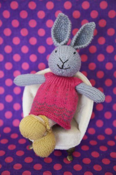 Little Knitted Rabbit Pattern Rabbit Toys Pinterest Rabbit