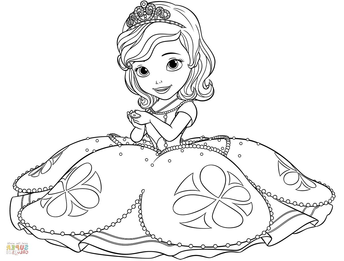 Sofia Coloring Pages Princess Coloring Pages Disney Coloring