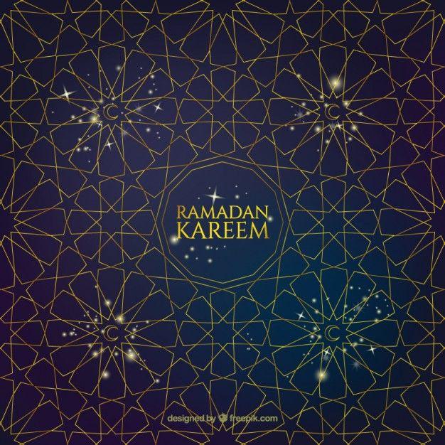 fondo de estrellas geométricas de ramadan vector gratis design