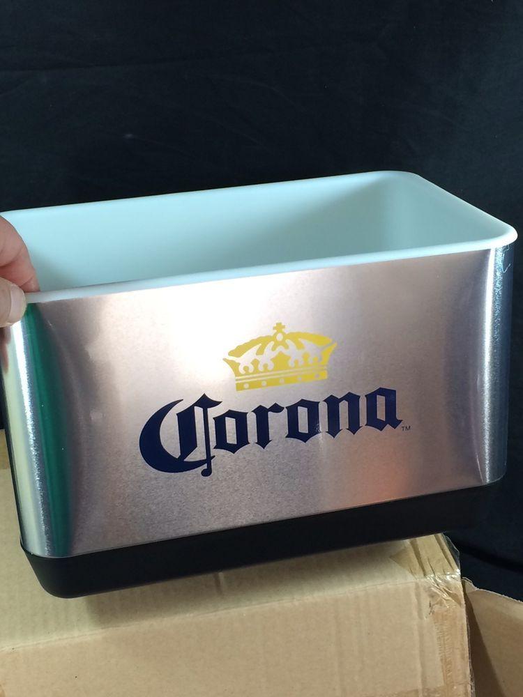 Mini Corona Beer Stainless Steel Cooler Ice Bucket Tiki Bar Mancave Beach  NEW