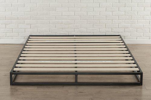 zinus modern studio 6 inch platforma low profile bed frame mattress foundation boxspring optional wood slat support