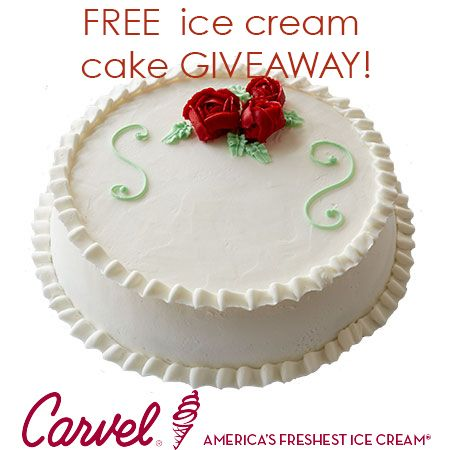 free giveaway carvel ice cream cake gift certificate enter here