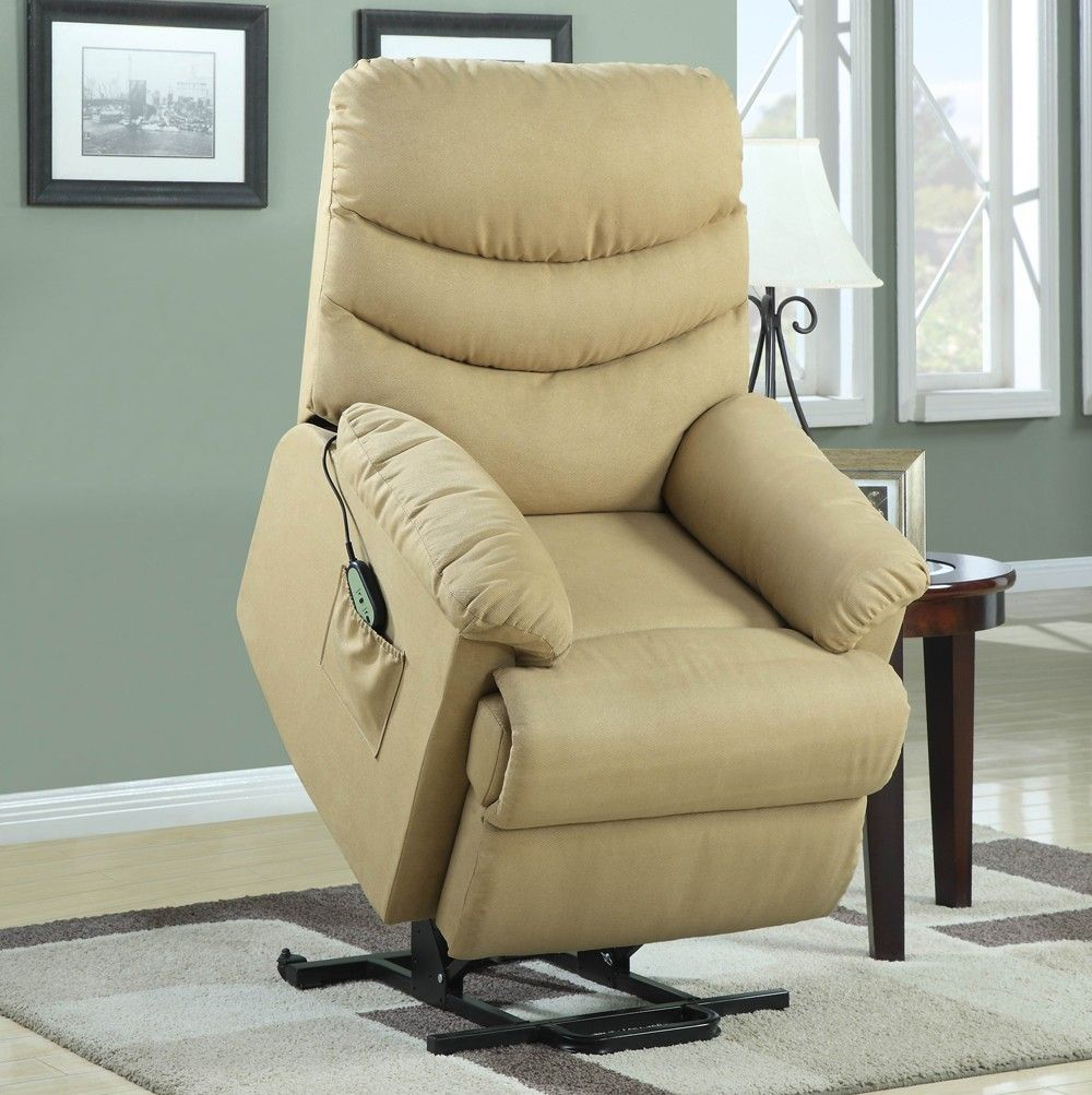 elevated collection tan power lift recliner chair 9769 1lt by
